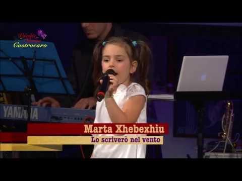 Marta Xhebexhiu canta Lo Scriverò nel vento alla finale di Vocine Nuove Castrocaro 2013