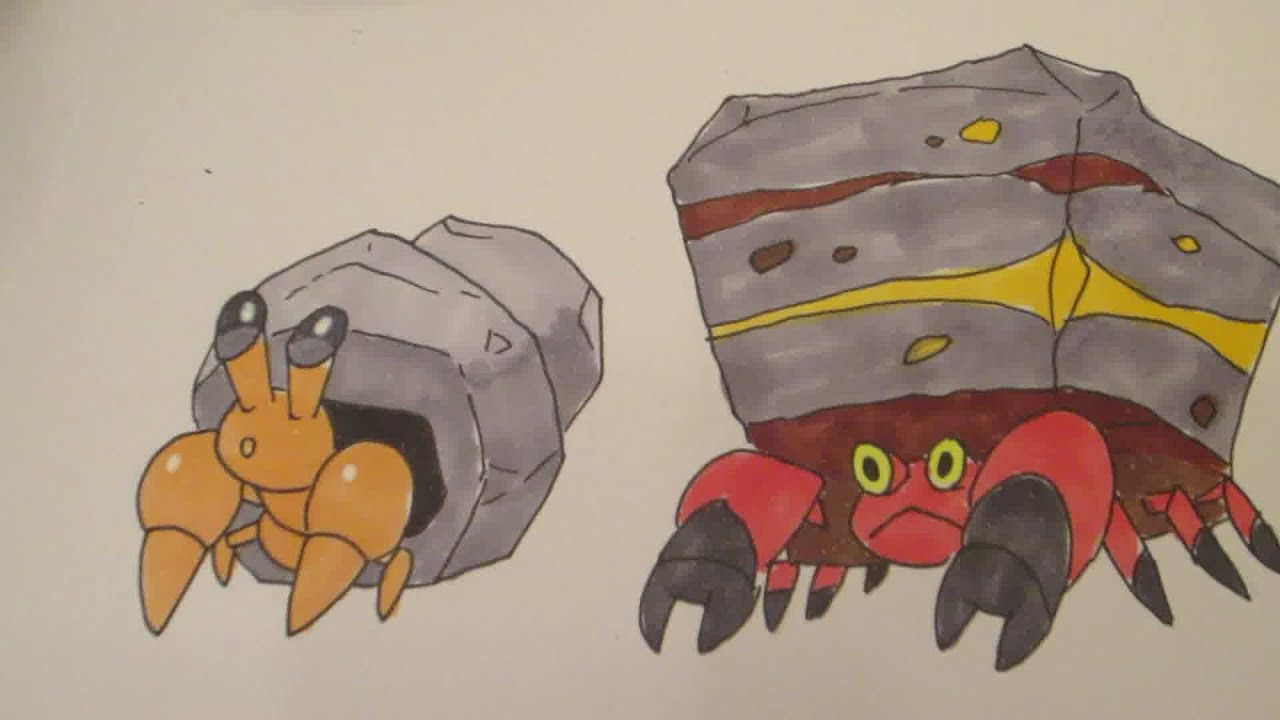 Pokemon Crustle Evolution How to draw Pokemon No 557