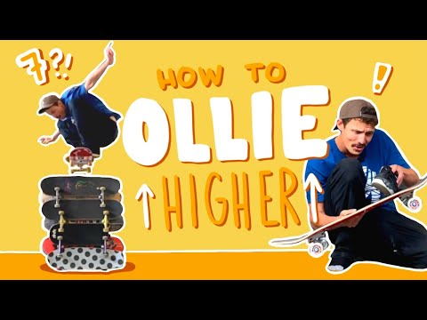 How To Ollie From Flat To 7 Skateboards High