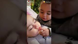 Cute Baby love story  very Romantic Baby kissing to your lover