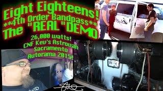 "Eight Eighteens! 4th Order Bandpass - The ""REAL"" Bass Demo - Easy T-Shirt Float"