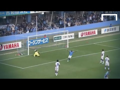 Miyazaki scores a real volleyed rocket
