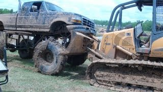 FORD CRUMBLES IN PATH OF BIG BLOCK CHEVY!!