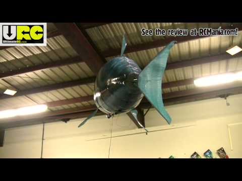 Air Swimmers RC shark in flight