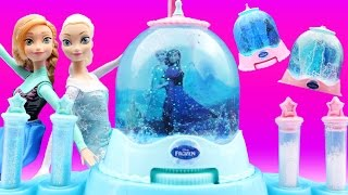 FROZEN SNOW GLOBE MAKER Elsa Dances Glitter Toys Anna Which is Your Favourite Globe 1, 2 or 3 ?
