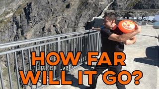 THROWING FRISBEES FROM 200m DAM?! | How Ridiculous