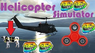 Helicopter Simulator 2017 Android Game - Funny Moments , Glitch , Fidget Spinner