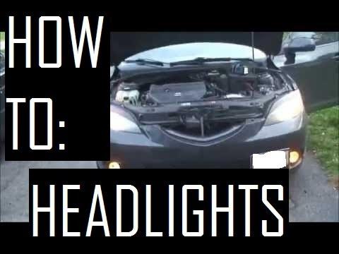 Mazda3 04-09 Headlight Bulb Replacement [HD]