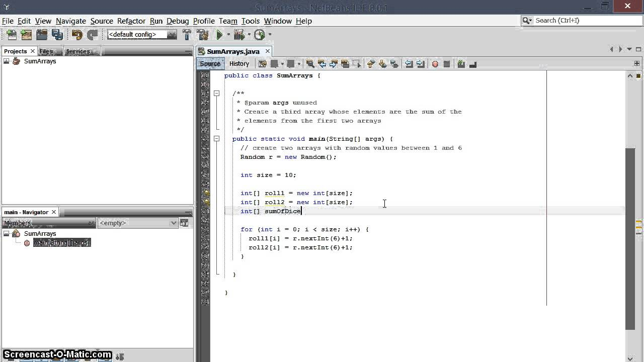 sum two arrays into a third array in java   youtube