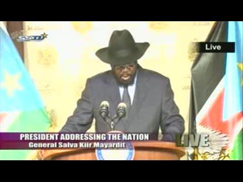 President salva kiir addressing the nation