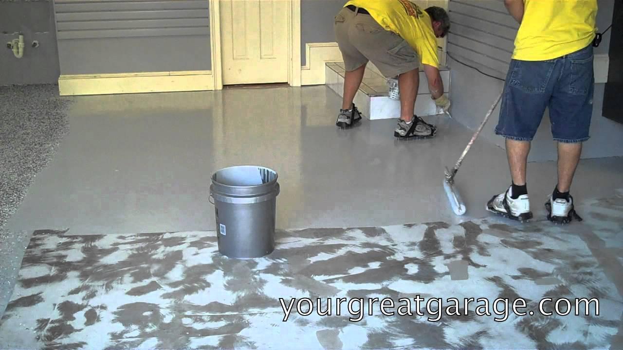 Epoxy Floor Installation Youtube