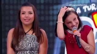 Yasmin Gabrielle e Milena voltam ao programa e emocionam todos no Raul Gil