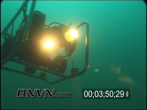 10/21/2003 ROV underwater video at Gulf of Mexico Amberjack Hole Sink