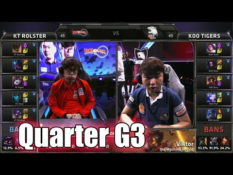 KT Rolster vs KOO Tigers | Game 3 Quarter Finals LoL S5 World Championship 2015 | KT vs KOO G3