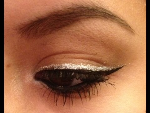 Silver Glitter Liner A Quick And Simple Holiday Tutorial