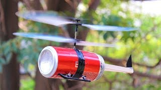 How to make a Helicopter That can Fly-using coca cola can Helicopter