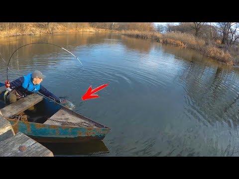 Рыбалка на хищника.Побил все рекорды.Не мог вытянуть,просил помощь у людей.