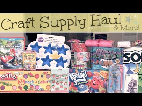 Huge HAUL ❥ Craft Supplies & More! ❥ Michaels, Target, WalMart, Ebay...