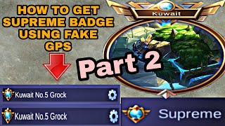 How to Get Supreme Badge Title EASIEST WAY in Mobile Legends [Part 2] (Tagalog)