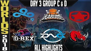 Worlds 2018 Day 3 Highlights Play in Stage ALL GAMES