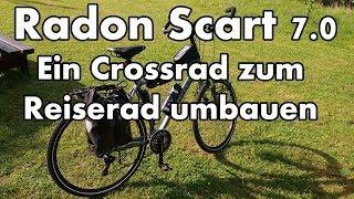 Mein Fahrrad - Radon Scart 7.0 Crossrad zum Reiserad umgebaut