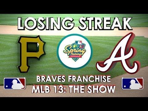 LOSING STREAK! - Pittsburgh Pirates vs. Atlanta Braves - Franchise Mode - EP 3 MLB 13: The Show)