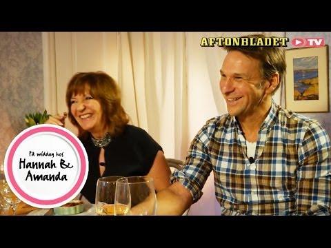 Malou von Sivers och Anders Lundin i På middag hos Hannah & Amanda