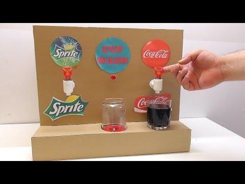 Как сделать Автомат Кока кола с Мойкой стакана из картона