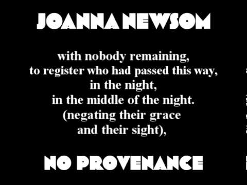 Joanna Newsom - No Provenance