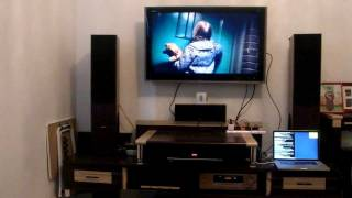 Home theater_ Cheap speakers (modded) with basic setups. (Sound Demo)