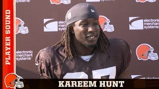 Kareem Hunt Working His Way Back from Injury in Training Camp | Browns Player Sound