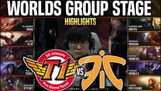 SKT vs FNC Highlights Worlds 2019 Group Stage Day 7 - SKT T1 vs Fnatic Highlights Worlds 2019 Groups