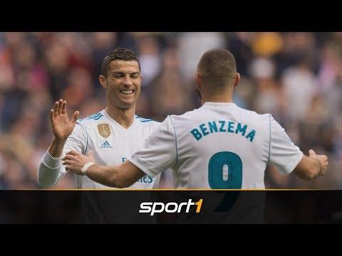 Historischer Rekord: Karim Benzema überflügelt Cristiano Ronaldo bei Real Madrid | SPORT1 NEWSFLASH