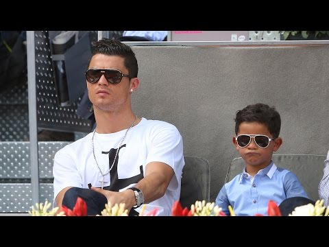 Cristiano Ronaldo's Son Meets Messi, Interrupts Interview Dressed as Superman