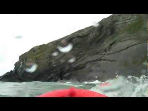 Kayak and Swim at Cwmtudu (Cwmtydu), West Wales