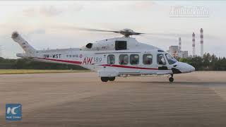Top-of-the-line Italian helicopter arrives for Shanghai Import Expo