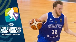 Estonia v North Macedonia - Full Game - FIBA U20 European Championship Division B 2019