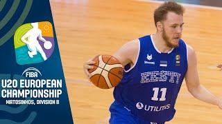 LIVE Estonia v North Macedonia FIBA U20 European Championship Division B 2019