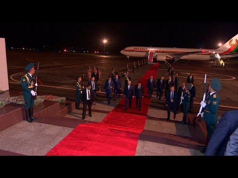 Лукашенко прибыл с официальным визитом в Таджикистан