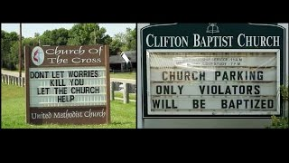 Funny Church Signs that will go to Hell