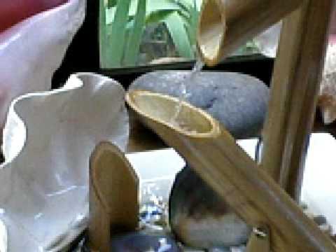 Fuente de agua con bambu 1 youtube for Como construir una pileta de agua