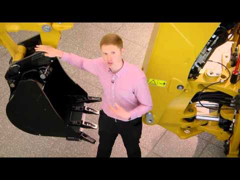 Cat Backhoe Loader F Series Walkaround (Side-Shift) - English