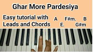 Ghar More Pardesiya - Kalank | Easy Piano Tutorial | Varun, Alia & Madhuri | Shreya | Pritam