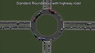 Traffic flow measured on 30 different 4-way junctions