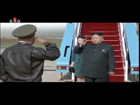 Korea Północna - Parada Lotnicza 2014 - Kim Dzong Un