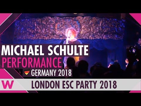 "Michael Schulte ""You Let Me Walk Alone"" (Germany 2018) LIVE @ London Eurovision Party 2018"