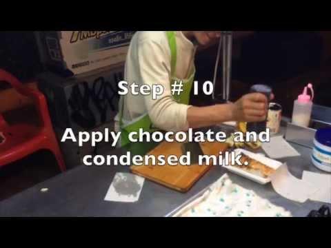 How to Make Banana Rotee in Chang Mai, Thailand