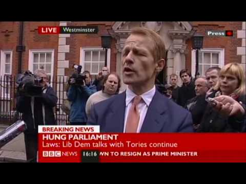 Liberal Democrat Negotiator David Laws Makes Statement On Conservative Offer (8/5/10)