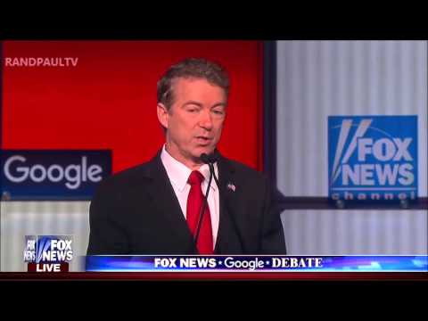 All of Rand Paul's responses FOX GOP Debate #GOPDebate