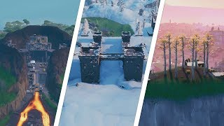 Land on Polar Peak, a Volcano and a Hill Top With a Circle of Trees Location - Fortnite